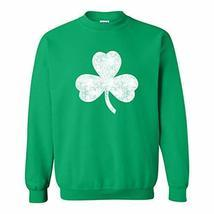 UGP Campus Apparel Lucky Clover Shamrock Distressed ST Patricks Day Crew... - $22.99
