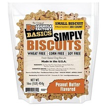 K9 GRANOLA Factory Simply Biscuits with Peanut Butter, Dog Treats, Small 350 cou