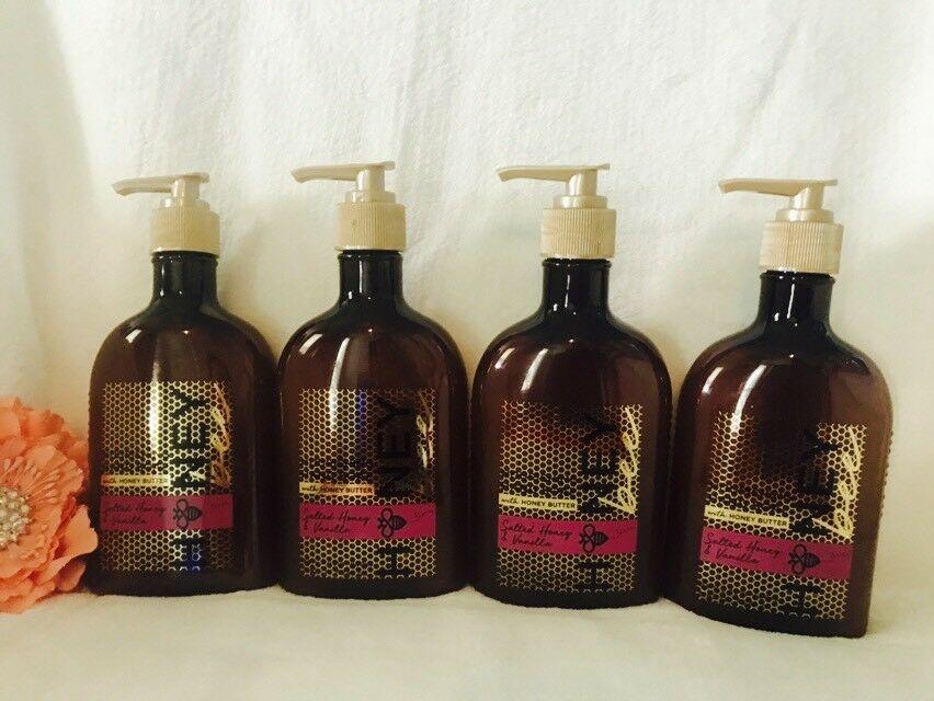 4 Bath Body Works Salted Honey & Vanilla Nourishing  Hand Soap Hand Wash