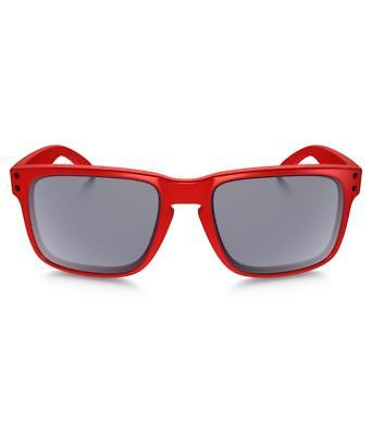 Neuf Oakley B1B Collection Holbrook Mat Rouge W / Gris OO9102-83