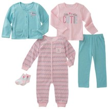 Absorba Infant Girls' 5-Piece Set, (Jacket, Shirt, Bodysuit, Pant and Socks) - $13.99
