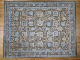"""11'9""""x15'2"""" Silk With Oxidized Wool Antiqued Oversize HiLo Pile Village ... - $7,591.44"""