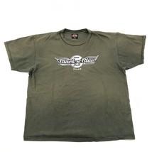 Harley Davidson Mda Black N Blue Palla Camicia Taglia XXL 2XL Invecchiat... - $32.16
