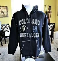 NCAA Colorado Buffalo Full Zip Hoodie Men's Sz L Sports Long Sleeve Swea... - $31.68