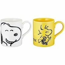 Peanuts Snoopy Face Pair Mug Snoopy & Woodstock 629700 Set  w/Tracking# New - $19.41