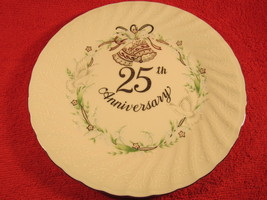 """9"""" Porcelain Collector Plate 25th ANNIVERSARY Lefton 1983 - $8.77"""
