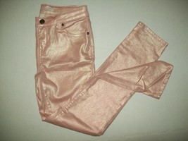 Cherokee Girls Pants Size 12 Super Skinny Pink Shimmer Casual School NWT - $15.83
