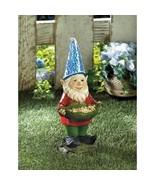Gnome Solar Statue Bird Feeder Lawn Yard Decor - $24.41