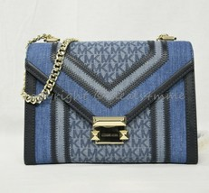 NWT Michael Kors Whitney Signature Colorblock Shoulder Bag in Denim Multi - $229.00