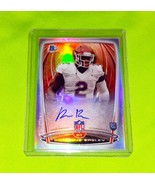 NFL DOMINIQUE EASLEY AUTOGRAPHED 2014 BOWMAN CHROME ROOKIE REFRACTOR MNT - £6.67 GBP
