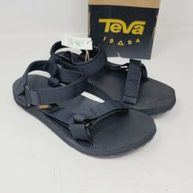 Teva Womens Classic Original Universal Black Vegan Sandals Size 8 - $39.87