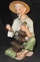 Porcelain Figurine WALES Oriental Man CARVING Made in Japan Collectible ... - $98.01