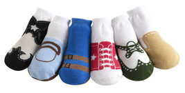 Jazzy Toes Boys Variety Pack-Six Pair Size 0-12 Months Really Cute! - $19.99