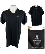 PSYCHO BUNNY v-Neck Pima Cotton Black Tee T-Shirt 4 Men's Small S - $35.00