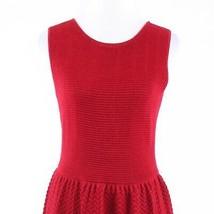 Red herringbone stretch CYNTHIA STEFFE sleeveless A-line dress M - $34.99