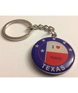 Texas Lone Star + I Love Texas with Texas Flag Colorful Round Metal Key ... - $3.49