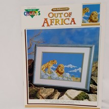 Out of Africa Lions Male Female  Cross Stitch Leaflet Book Color Charts ... - $18.99