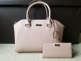 NWT KATE SPADE Tilden Place Pippa Leather Satchel + Matching Wallet Warm... - $233.75
