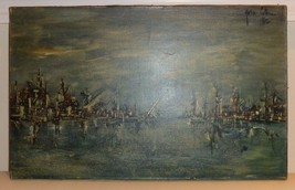 Yona Lotan (Israeli - French, 1926-1998) Signed Oil on Canvas - $499.00