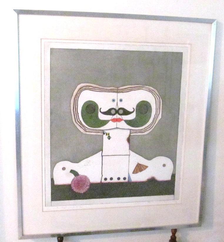 Rare 1960's Original Hand Signed Carl Lambertz Aquatint Color Germany Art Print
