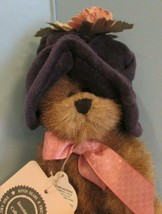 """JOINTED PLUSH 6"""" Boyds Bears Garden Friends NAVY BLUE HAT """"CARLY BEARSWO... - $19.80"""