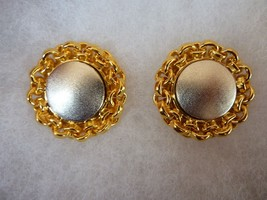 "Vintage Retro Modernist Signed Lee Wolfe 1992""  Clip On Earrings Gold Si... - $48.95"