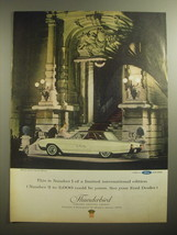 1963 Ford Thunderbird Limited Edition Landau Ad - This is number 1 - $14.99