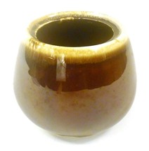 """McCoy Pottery Brown & Tan Sugar Dish without Lid 2020 3.5"""" tall, 13.5"""" r... - $9.89"""