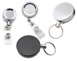 2 Pcs Metal Reels Retractable Carabiner Badge ID Card Clip Holder Office... - $5.99+