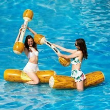 Swimming Pool Game Set Inflatable Log Shaped Float Raft Water Toy Kids A... - $42.99+