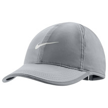 NEW NIKE Women DRI-FIT Tennis/Runners Featherlight Cap-Grey 679424-027 - $54.44