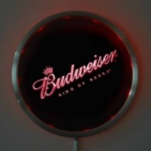 Neon  Round Sign LED Budweiser King of Beers Red,Green, Blue   - $48.99