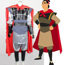 Mulan Li Shang Cosplay Costume Men Halloween Outfit Uniform - $128.96