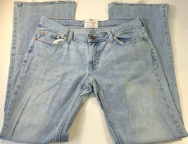 American Eagle Outfitters Womens Work Jeans Blue Hipster Light Wash Dist... - $9.89