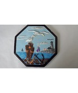 Lakeshore Bay Ceramic Wall Hanging Art Plaque Lighthouse Sailboat Blue P... - $22.76