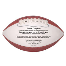 Custom Mini Football To Our Daughter Graduation, Birthday, Christmas Gift - $34.95