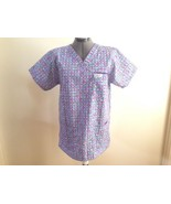 Scrubs by Doc Colorful Check Scrub Top with Breast Pocket M - $11.65