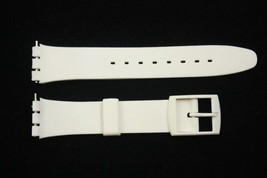 17mm Soft PVC White Replacement Band Strap fits SWATCH watches - $7.94