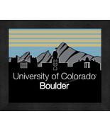 Colorado at Boulder Buffaloes 13 x 16 Uscape with Retro Skyline Framed P... - $39.95