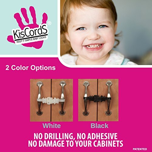 Kiscords Baby Safety Cabinet Locks for Handles Child Safety Cabinet Latches for