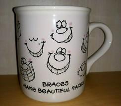 Vintage Hallmark Mug Mates Dentist  Coffee Mug Cup  Braces Make Beautiful Faces - $12.59