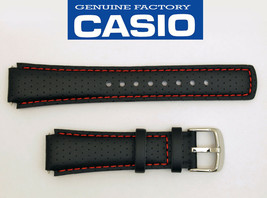 CASIO EDIFICE EFA120L WATCH BAND STRAP BLACK17mm Leather EFA-120L WITH 2... - $22.95