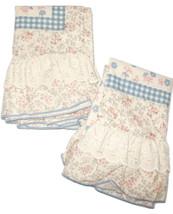 Standard Pair Vintage Pillowcase Covers Blue Brown Springmaid Wondercale - $18.00