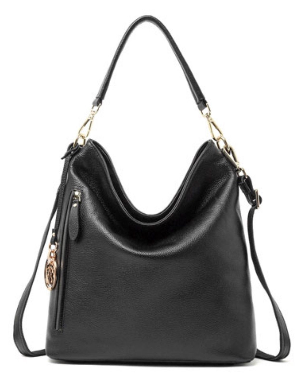 New Pebbled Italian Leather Hobo Handbag Shoulder Bag Purse 2205