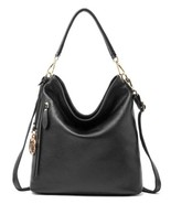 New Pebbled Italian Leather Hobo Handbag Shoulder Bag Purse 2205 - $144.95