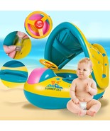 Baby Float Boat, Baby Swimming Float, Gonflable Baby Float with Canopy B... - $23.96