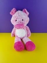 "Fiesta Plush Fuzzy Folk Bean Bag Opal Pig Stuffed Animal Pink Floppy 17""... - $24.74"