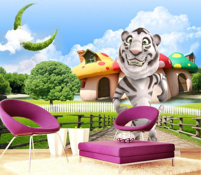 3d netter tiger 900 fototapeten wandbild fototapete - Wandbild familie ...