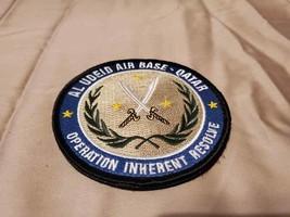 "Al Udeid Air Force Base Qatar Inherent Resolve Hook Loop Embroidered 4"" Patch - $17.09"
