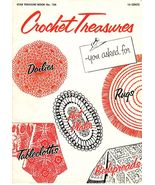 1 Vintage 1940's Star Treasure Book #126 Crochet Treasures Booklet  - $8.99